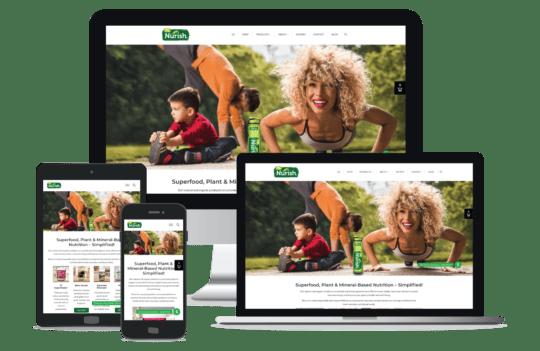 MyNurish WordPress + Shopify Website