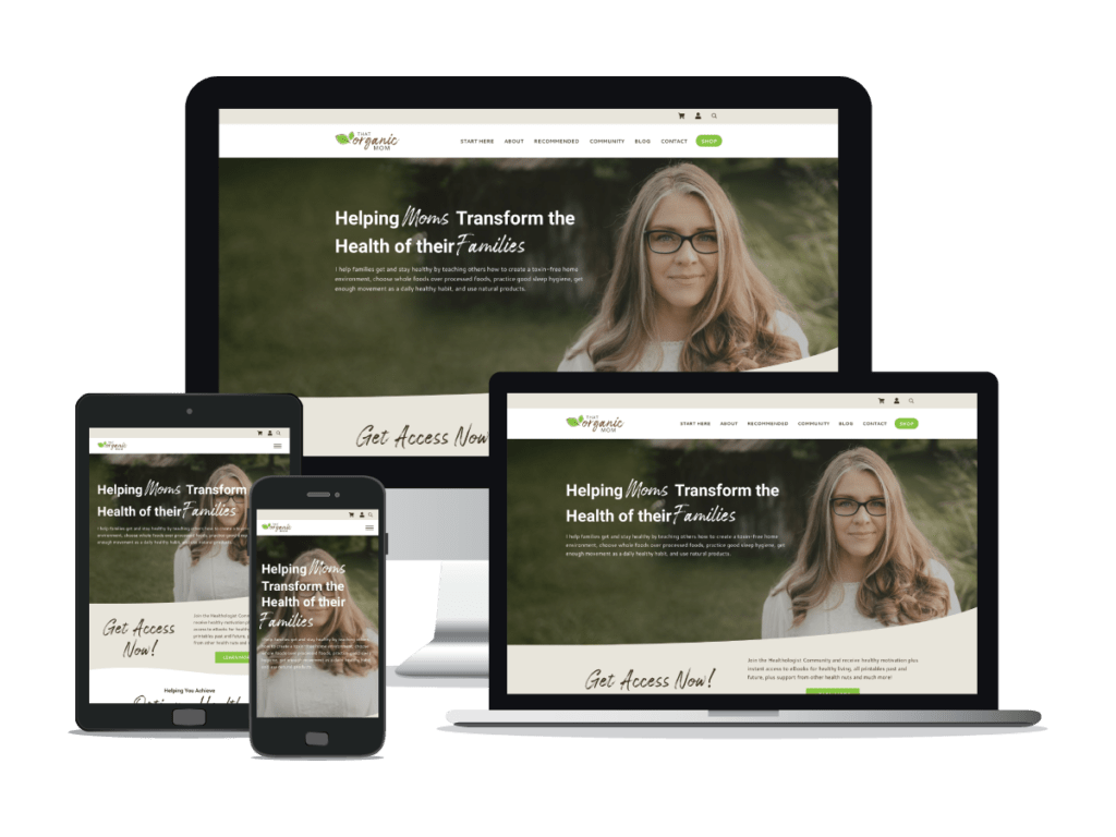 Custom WordPress Website Design for That Organic Mom