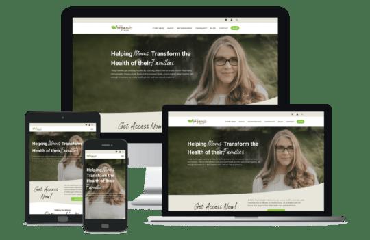 ThatOrganicMom WordPress Website